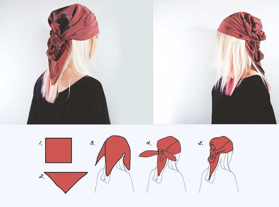 How to wear a scarf into a top