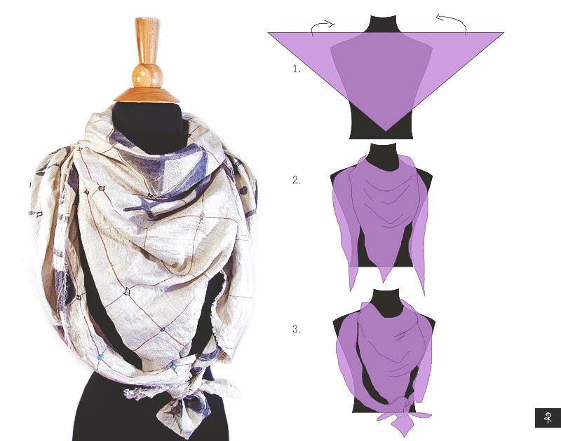 4 ways to tie scarf in 3 steps rannka
