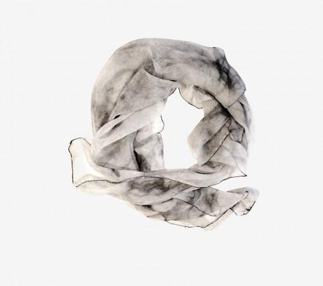 Pearl transparent scarf