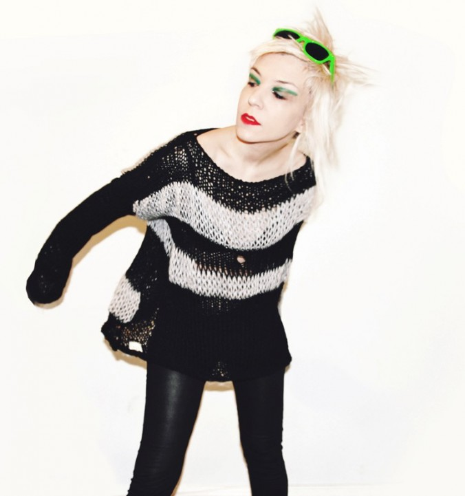 Rotten, grungy punk distressed unisex sweater