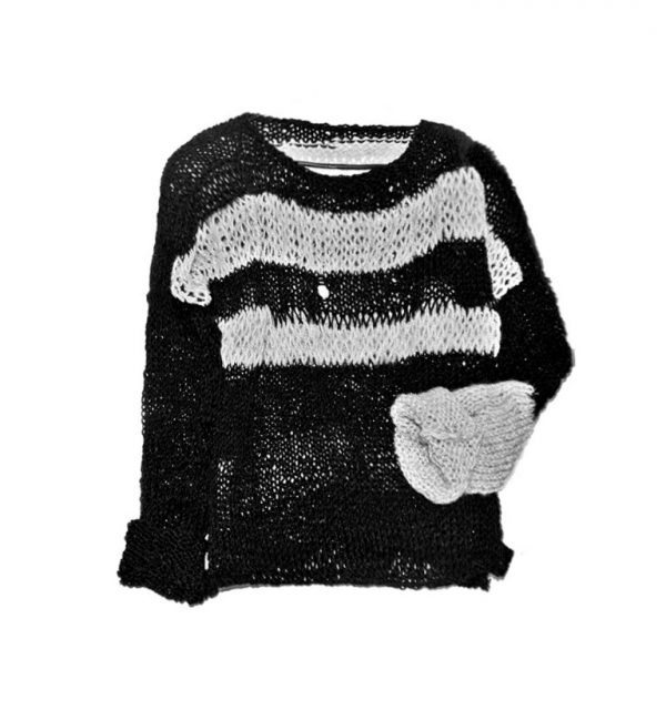 unisex-rannka-sweater-black-gray-stripes-grungy-punk-rock-destroyed-urban-knits