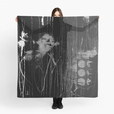 Black heart oversize light scarf