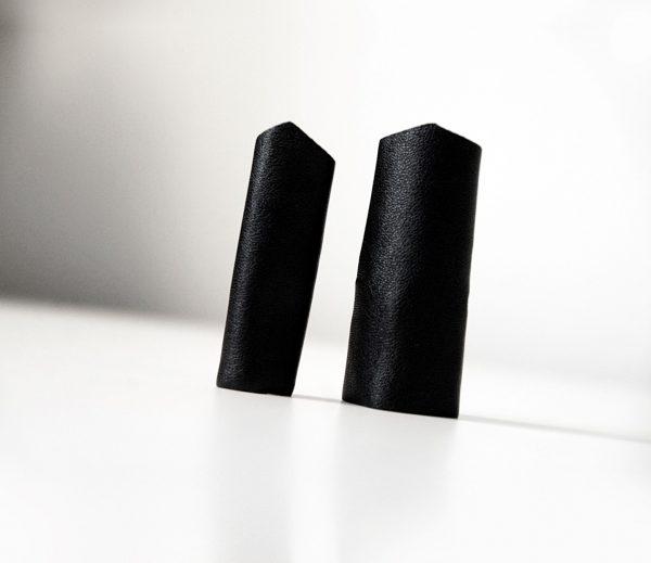 rannka black long pointy ring unisex vegan