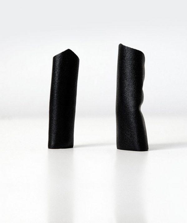 rannka-black-long-pointy-ring-vegan-leather