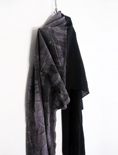 Analogue 2 Black Grey Long Scarf