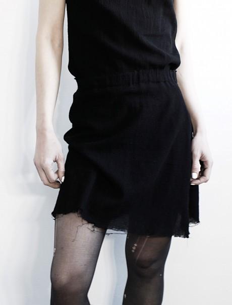 Destroyed Black Skirt