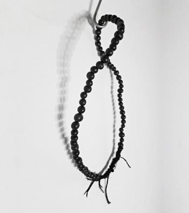 Black short Acai seeds necklace