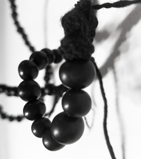 9 black short Acai seed necklace