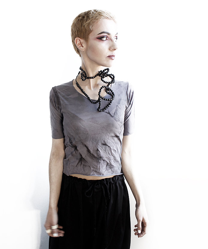 rannka long avant garde black seed necklace