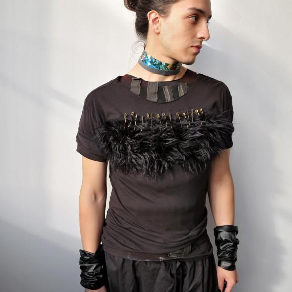 Gorilla Baby Vegan Fur T-shirt, M size