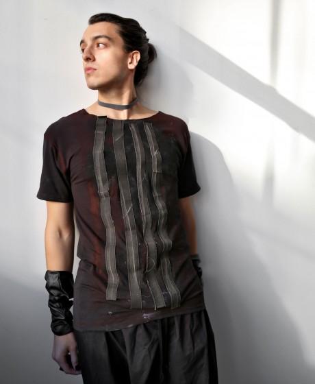 Raw Stripes T-shirt, L size