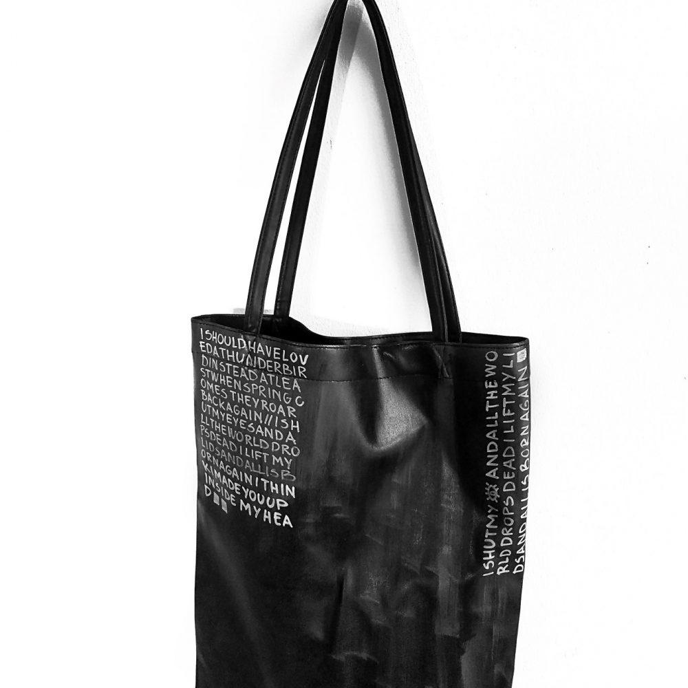 9 Rannka Black minimal hand painted tote bag