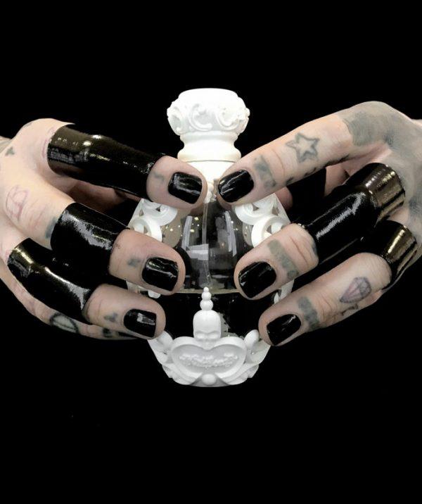 rannka-black-pvc-ring-set