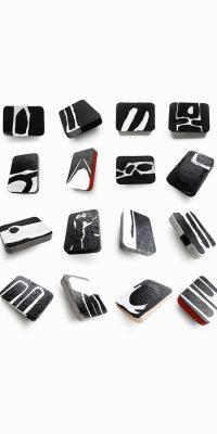 contemporary-art-jewelry-brooches-black-and-white-Rannka