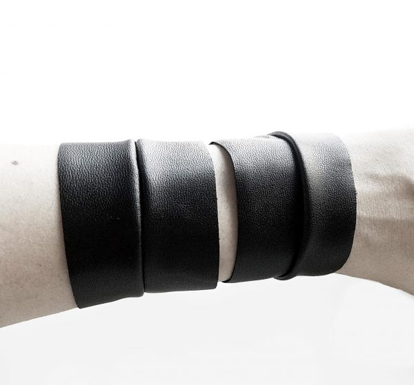 Twin bracelet vegan leather Rannka punk unisex jewelry. (3)