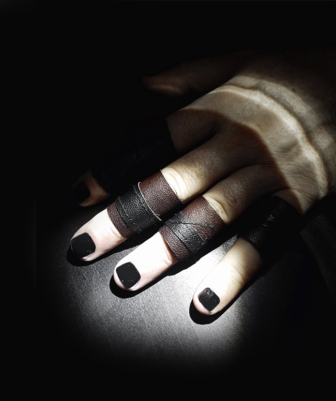 black-and-brown-size-6-rannka-vegan-leather-ring