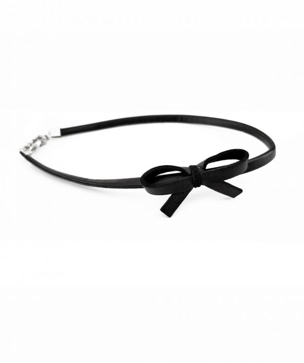 black-mini-choker-necklace-with-a-bow
