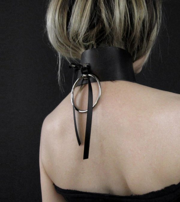rannka-black-faux-leather-choker-with-ribbon-and-a-ring-2