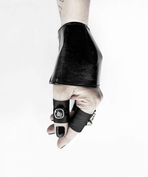 anu's-cuff-in-black-pvc-and-black-shadow-swarovsky-crystal-leather-rannka-ring-armor