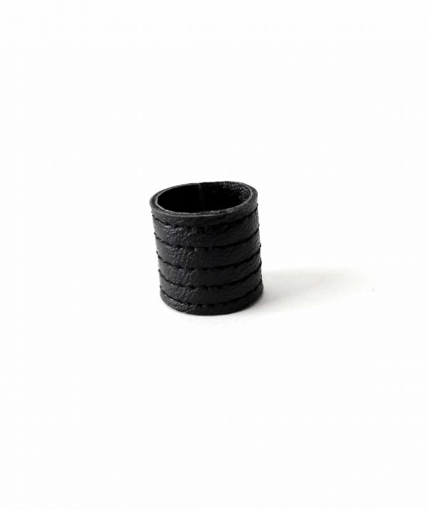danu-ring-rannka-lines-ring-black-leather-unisex-ring-band