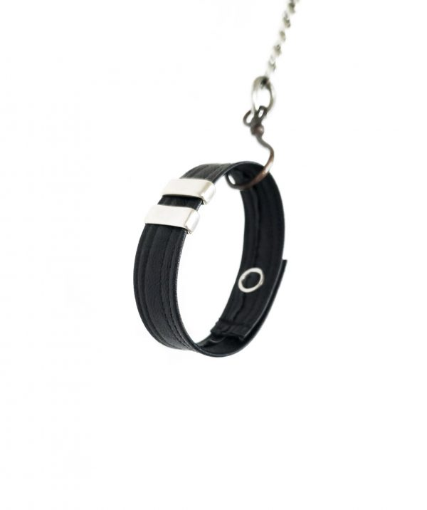 gift-for-him-bangle-leather-black-bracelet-gift-for-her