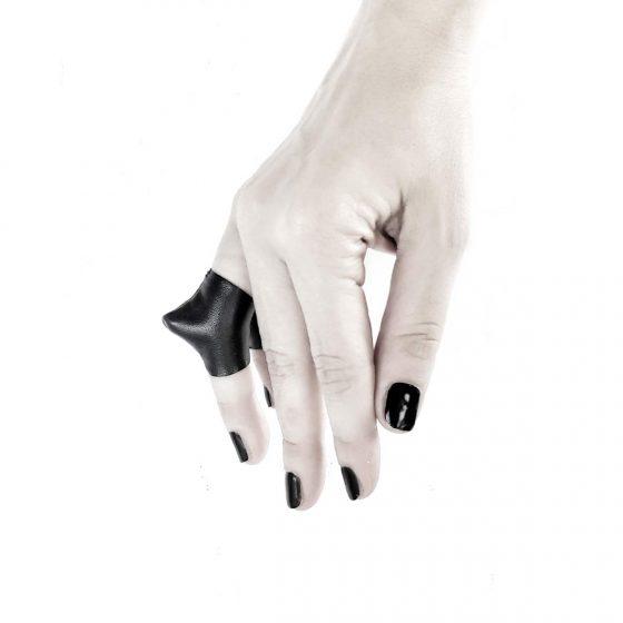 rannka-vulture-ring-selection-of-lengths-vegan-leather-avant-garde-ring