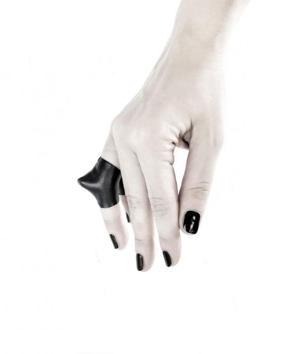 rannka-vulture-ring-selection-of-lengths-vegan-leather-avant-garde-ring