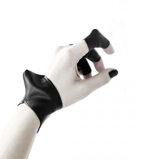 vulture-cuff-bracelet-and-vulture-ring-rannka-avant-garde-vegan-leather-armor-jewelry