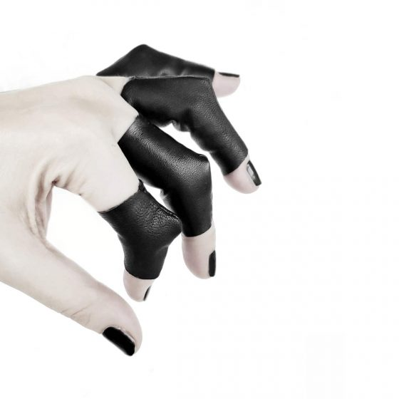 vulture-rings-rannka-avant-garde-black-vegan-leather-3-dimensional-rings