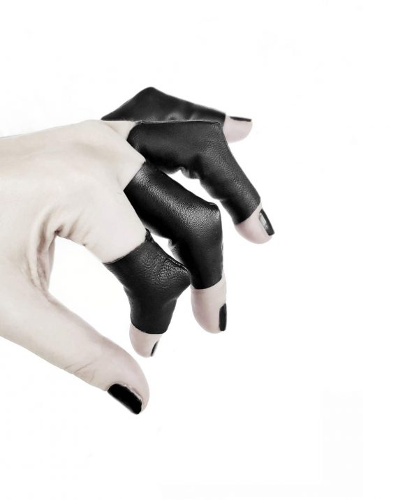 vulture-rings-rannka-avant-garde-black-vegan-leather-3-dimensional-rings