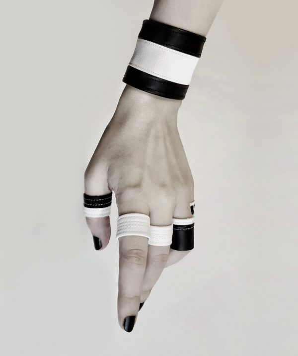black-and-white-jewelry-rannka-arctic-prayer-vegan-leather-collection