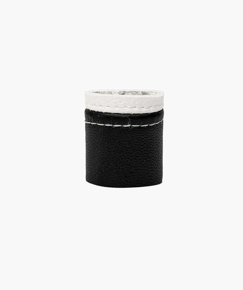 black-and-white-rannka-ring-vegan-leather-ring-band