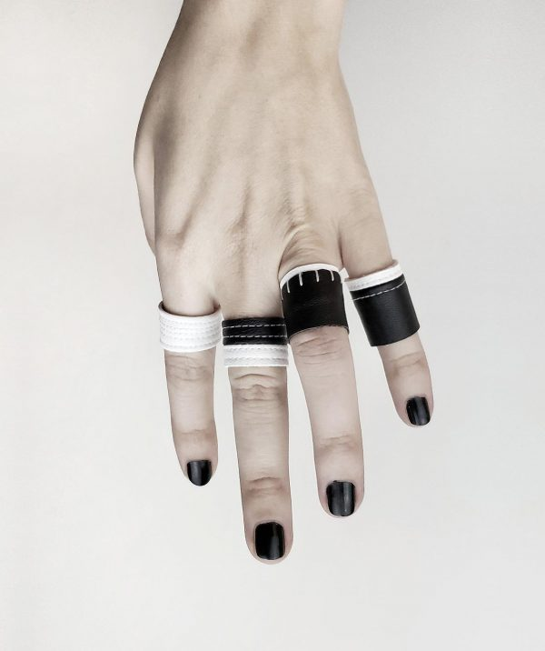 black-and-white-rings-rannka-artic-prayer-collection