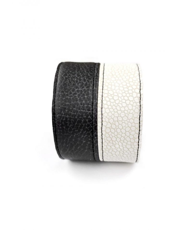 textured-leather-cuff-black-and-white