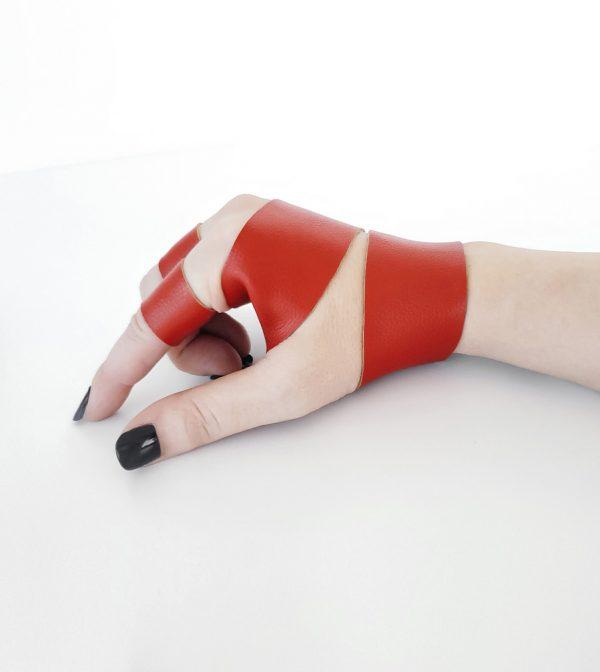 rannka-red-rings-matter-fire-engine-red-vegan-leather-unisex-ring-bands-double-bracelet-set-