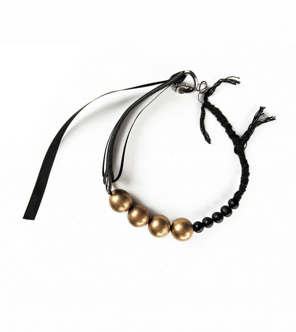 black-leather-raw-brass-choker-necklace-with-acai-black-beads-rannka-jewelry-3