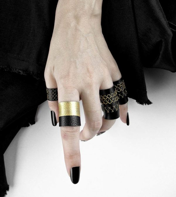 gold-black-leather-rings-rannka