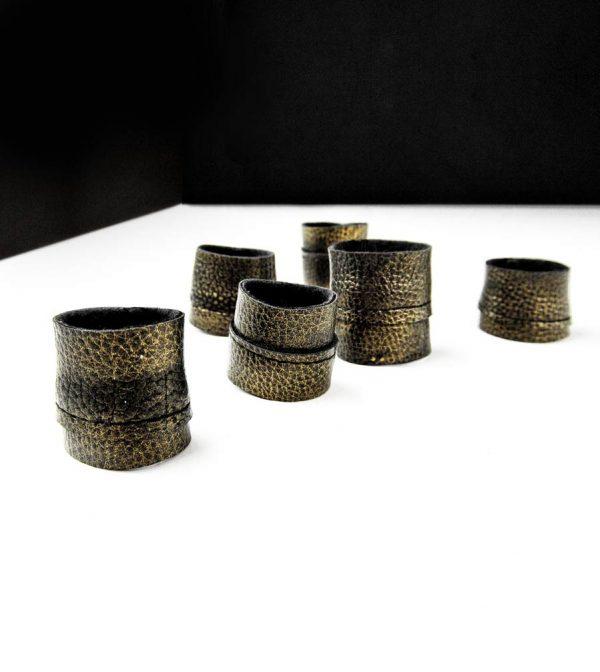 old-gold-ring-rannka-black-vegan-leather-matte-textured-ring-band