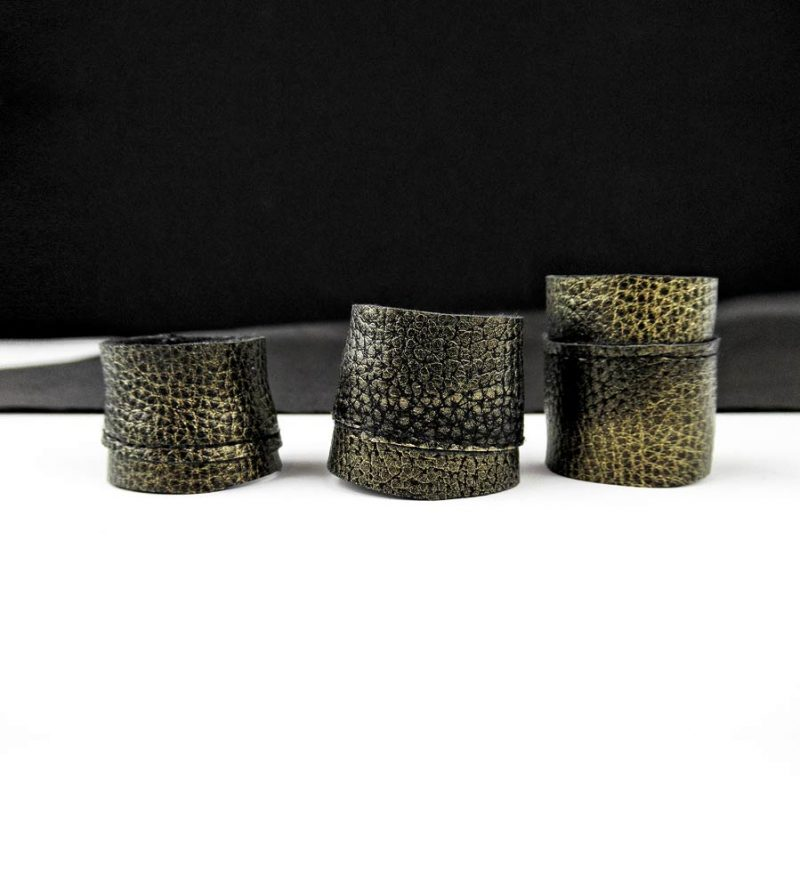 textured-matte-gold-rannka-unisex-rings