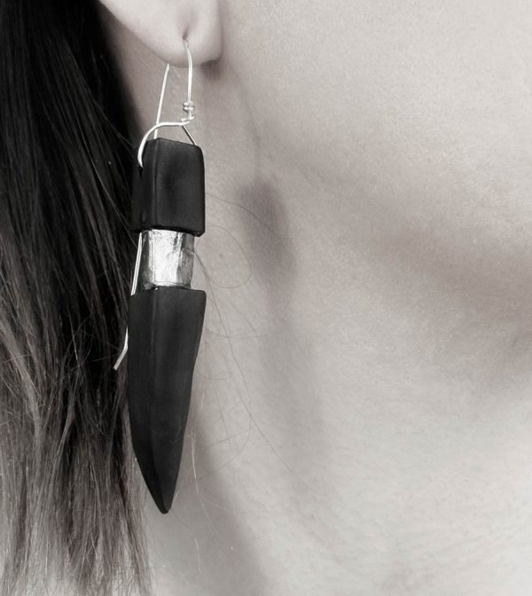2-rannka-FABRIKA-earrings-loong-black-sterling-silver-and-silver-quarc-artisan-earring-jewelry-a