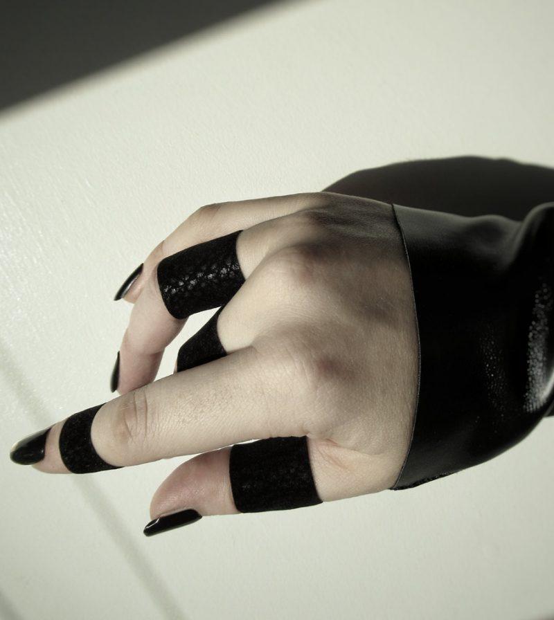 jet black ring rannka echo collection