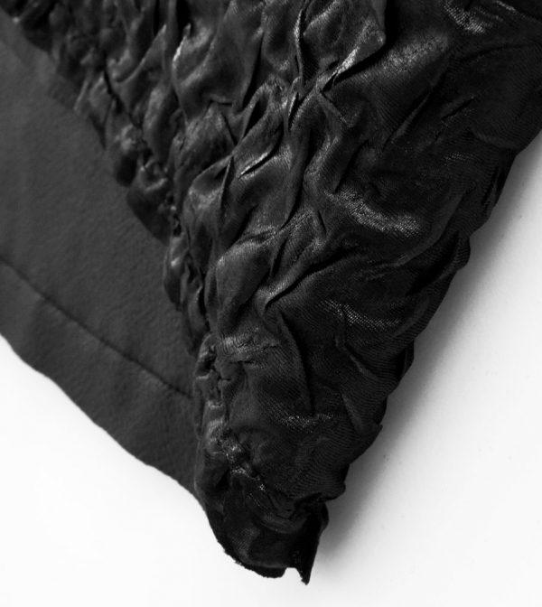 Black Ruche Bandana – Rannka Echo detail 2