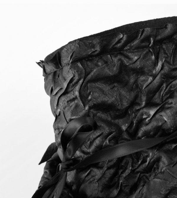 Black Ruche Bandana – Rannka Echo detail