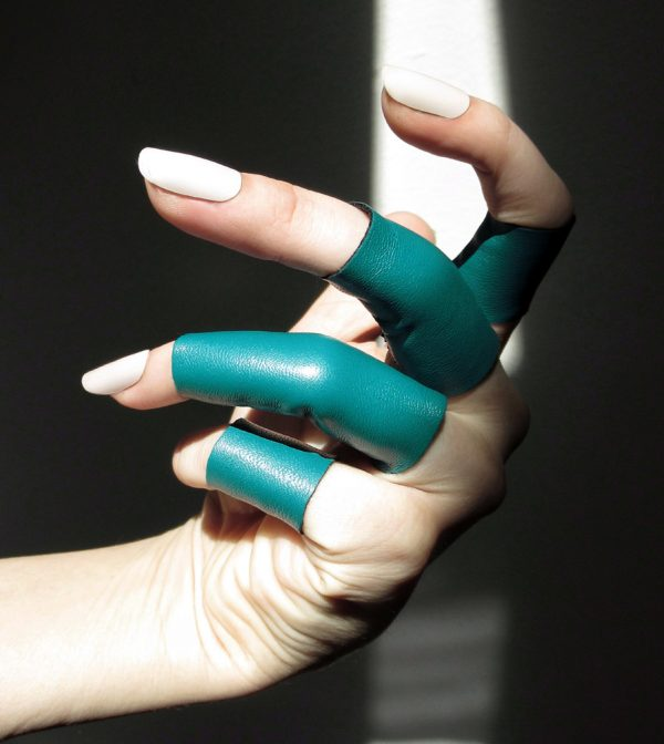 rannka teal rings echo collection
