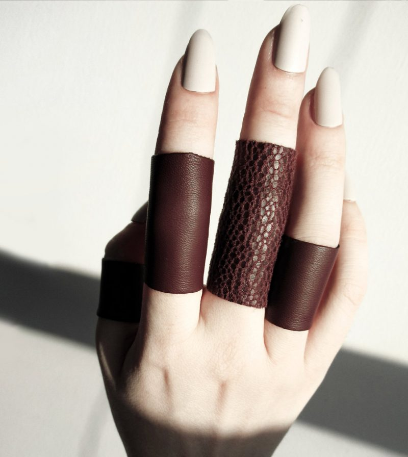 wine leather ring rannka echo collection 2