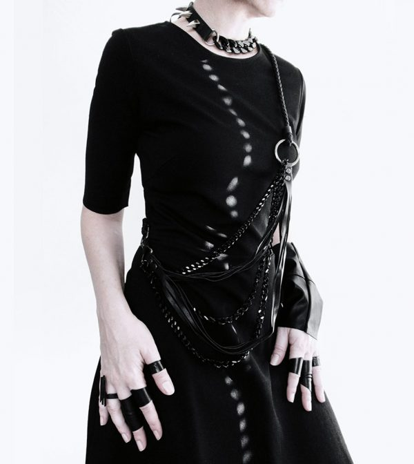 armor-collection-rannka-unisex-jewelry-black-vegan-necklace-and-rings