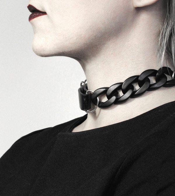 rannka-armor-chocker-necklace-punk-rock-black-chain-leather-chokers