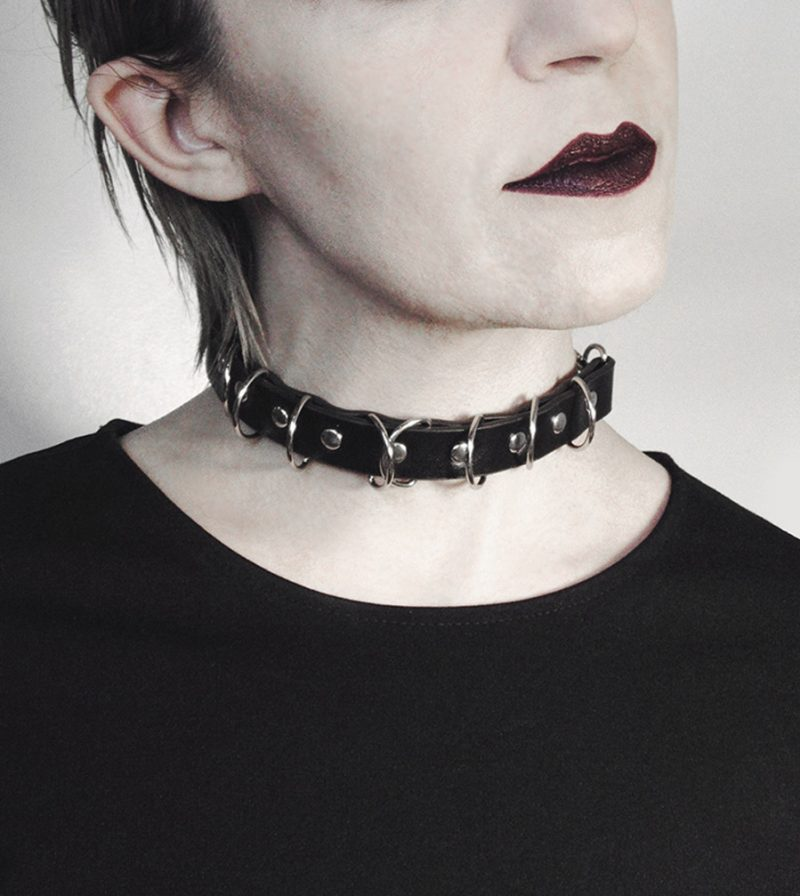 rannka-armor-chocker-necklace-punk-rock-t-black-chain-vegan-leather-choker