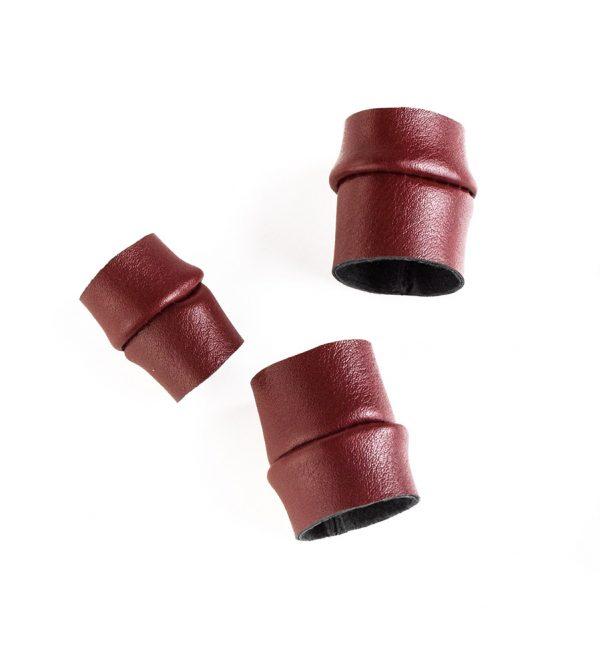 rosewood-rannka-dark-red-unisex-leather-rings