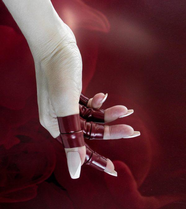 Rannka-Rock-Star-Rannka-Muse-HerLovelyGore-in-Wine-Color-Pvc-Rings-4-
